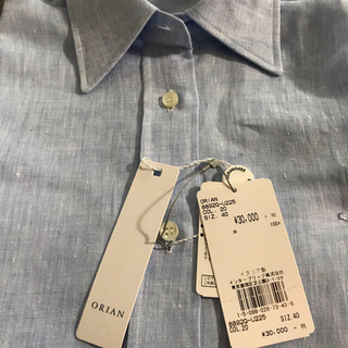 オリアン(ORIAN)の未使用品ORIAN イタリア製リネンシャツIENADeuxiemeClasse(シャツ/ブラウス(長袖/七分))