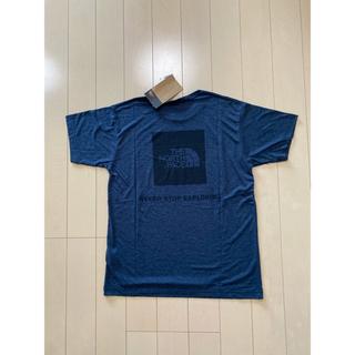 ザノースフェイス(THE NORTH FACE)のノースフェイス Tシャツ メンズ Lサイズ 新品 ネイビー ロゴ プリント(Tシャツ/カットソー(半袖/袖なし))