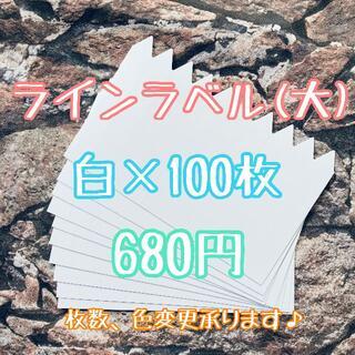◎ 100枚 ◎ 白 ( 大 ) ラインラベル 園芸ラベル カラーラベル(プランター)