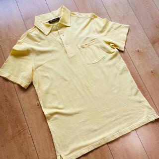 ロロピアーナ(LORO PIANA)の美品 ロロ・ピアーナ ポロシャツ イエロー メンズ Mサイズ(ポロシャツ)