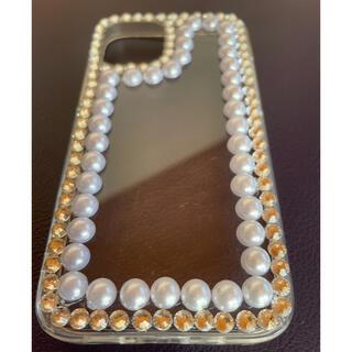 エイミーイストワール(eimy istoire)のiPhone12   mini   スマホケース パール ビジュ(iPhoneケース)