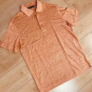 ロロピアーナ(LORO PIANA)の未使用 ロロピアーナ 麻 ポロシャツ オレンジ×ホワイト Sサイズ(ポロシャツ)