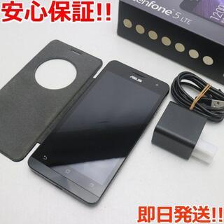ゼンフォン(ZenFone)の良品中古 SIMフリー ZenFone5 A500KL ブラック (スマートフォン本体)