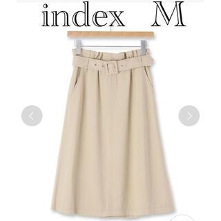 インデックス(INDEX)のindexベルト付きミディAラインスカート(ひざ丈スカート)