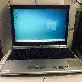 バイオ(VAIO)のSONY VAIO ノートパソコン HDD500GB(ノートPC)