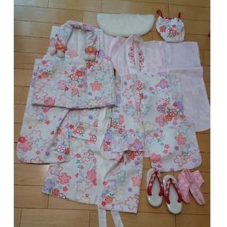 女の子 七五三 着物 着物セット 3歳 三歳 セット 一式 753お参り(和服/着物)