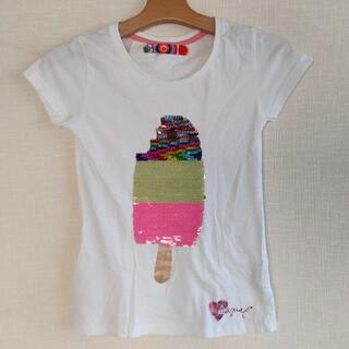 デシグアル(DESIGUAL)の★Desigual ガールズ スパンコール付 半袖Tシャツ 150サイズ程度★白(Tシャツ/カットソー)