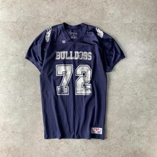 ウィルソン(wilson)のWilson BILLDOGS  アメフト ゲームシャツ ネイビー ストリート(アメリカンフットボール)