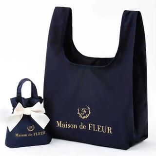 Maison de FLEUR - メゾンドフルール ローソン限定エコバッグ ネイビー