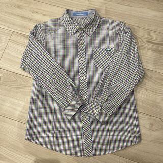 familiar - ファミリア チェックシャツ120