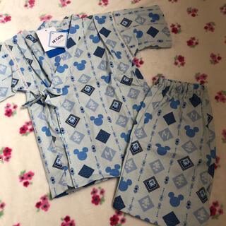 ディズニー(Disney)の新品 甚平 男の子 ディズニー ミッキー  110 夏服 綿100% パジャマに(甚平/浴衣)