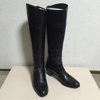 オデットエオディール(Odette e Odile)の後ろファスナー ロングブーツ 黒 23.5cm/売り切り希望(ブーツ)