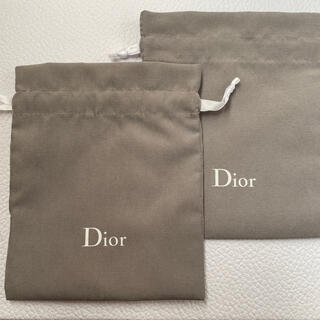 ディオール(Dior)のDior*ディオール*グレー巾着*ポーチ(その他)
