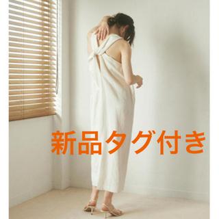 週末セールetretokyo⭐︎新品⭐︎完売バックツイストIラインワンピース (ロングワンピース/マキシワンピース)