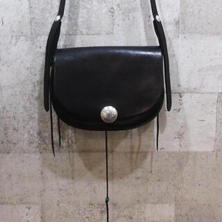 ゴローズ(goro's)のgoro's ゴローズ モルガンコンチョカスタムバケットバッグ 黒 返金保証付(ショルダーバッグ)