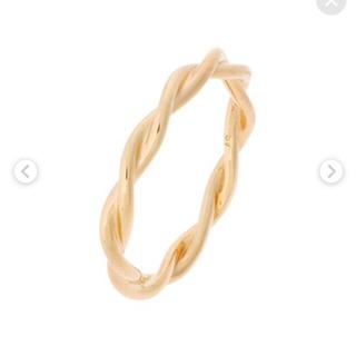 ココシュニック(COCOSHNIK)の美品☆ココシュニック 丸線ねじりリング 12号(リング(指輪))