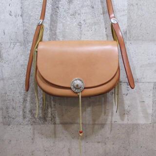 ゴローズ(goro's)のgoro's ゴローズ フラワーコンチョカスタムバケットバッグ サドル 超美品(ショルダーバッグ)
