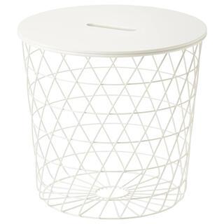 イケア(IKEA)のKVISTBRO クヴィストブロー リビングテーブル ホワイト/44cm(ローテーブル)