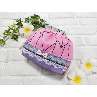 お弁当袋 巾着 和柄 蝶々柄 蝶柄 給食袋 入園入学準備 コップ袋 女の子(外出用品)
