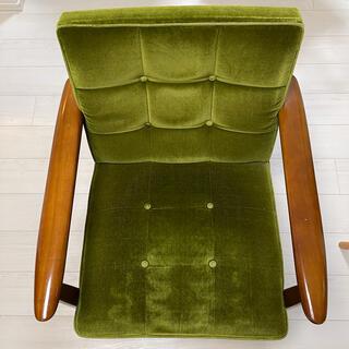 カリモクカグ(カリモク家具)のカリモク 60 Kチェア 1シーター モケットグリーン カリモク家具 (一人掛けソファ)