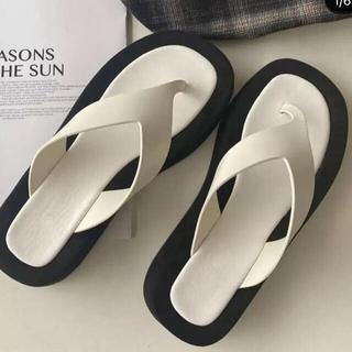Jil Sander - 新品 The Row 風モノトーントングサンダル ホワイト 23cm