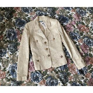 新品 belair 刺繍 レディースジャケット サイズ36 XS フランス製(テーラードジャケット)