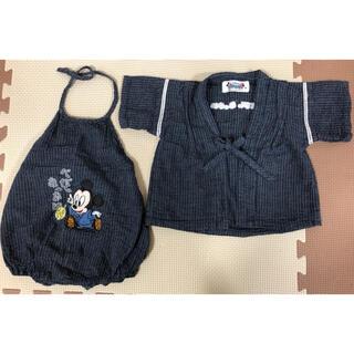 ディズニー(Disney)のベビー服 ロンパース 甚平 ミッキー(甚平/浴衣)