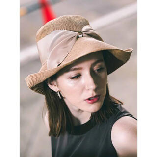 トゥモローランド(TOMORROWLAND)の【定価2.4万円】Athena New York リサコハット ベージュ(麦わら帽子/ストローハット)