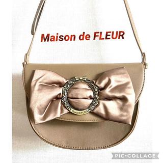 メゾンドフルール(Maison de FLEUR)のMaison de FLEUR  ❣️リボンショルダーバック稀少美品 #018(ショルダーバッグ)
