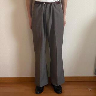 サンシー(SUNSEA)の70s vintage check flare slacks(スラックス)