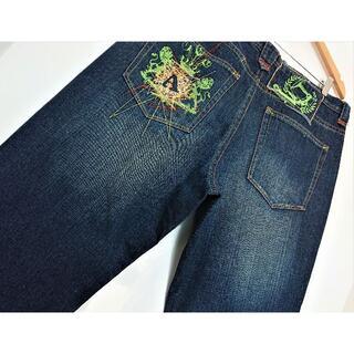 アカデミクス(AKADEMIKS)のアカデミクス♪濃紺♪デザインジーンズ♪ウエスト92cm♪2323B(デニム/ジーンズ)