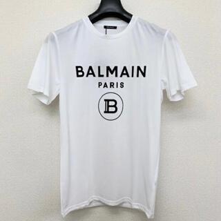 BALMAIN - BALMAIN PARIS バルマン メンズ ブランド 白 Tシャツ ロゴ