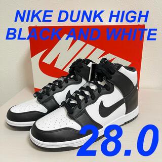 ナイキ(NIKE)の28.0 NIKE DUNK HIGH BLACK AND WHITE パンダ(スニーカー)