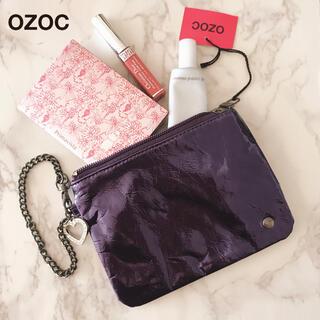 新品タグ OZOC オゾック ミニ ポーチ チェーン ビジュー チャーム付き ②