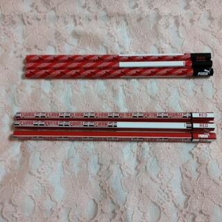 プーマ(PUMA)のPUMAの赤鉛筆  6本 柄は2種類(鉛筆)