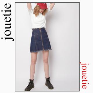 ジュエティ(jouetie)のjouetie ZIP台形 スカート デニム*メリージェニー EVRIS スライ(ミニスカート)