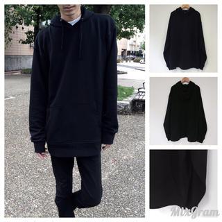 【新品】ビックパーカー ビックトレーナー ビックTシャツ メンズ 長袖 黒(パーカー)