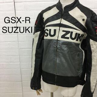 ハーレーダビッドソン(Harley Davidson)のGSX-R SUZUKI スズキ レーシングレザージャケット バイクジャケット(ライダースジャケット)