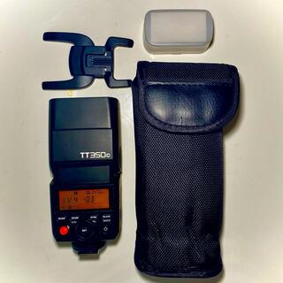 キヤノン(Canon)の※値下げしました ストロボ GODOX TT350 Canon用 おまけ付き(ストロボ/照明)
