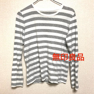 ムジルシリョウヒン(MUJI (無印良品))の長袖Tシャツ 無印良品 ボーダーカットソー ボーダー カットソー ロンT (Tシャツ(長袖/七分))