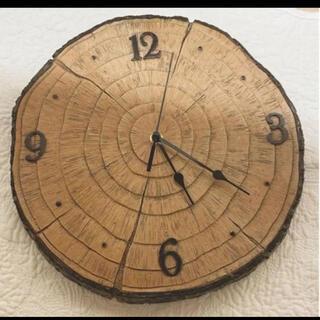 Francfranc - 新品未使用 切り株 掛け時計 ウッド時計 ウッド掛け時計 ウォールクロック