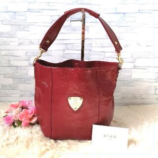 アタオ(ATAO)の正規品♡ 美品♡ アタオ ATAO ハンドバッグ 赤 415(ショルダーバッグ)