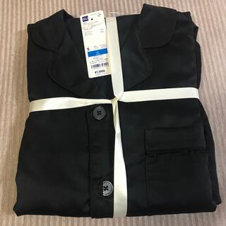 GU - メンズ サテンパジャマ S ブラック