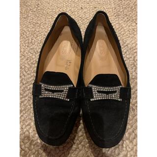 トッズ(TOD'S)のTOD'S 黒ローファー 25.5センチ(ローファー/革靴)