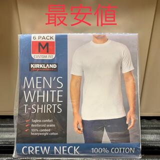 コストコ(コストコ)の最安値 6枚セット KIRKLAND カークランド無地 白 Tシャツ Mサイズ(Tシャツ/カットソー(半袖/袖なし))