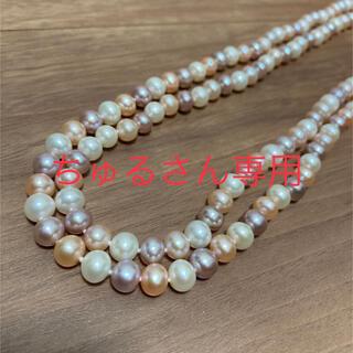 【ちゅるさん専用】淡水真珠ネックレス2本(ネックレス)
