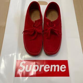シュプリーム(Supreme)のSupreme Clarks Weaver Red US9 27cm(スリッポン/モカシン)
