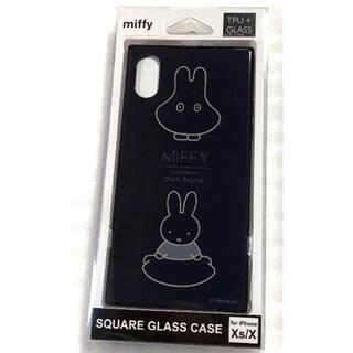 PEANUTS - ミッフィー iPhoneXS/X対応スクエアガラスケース