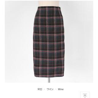 ディーホリック(dholic)の秋冬向き♡チェックタイトスカート(ひざ丈スカート)