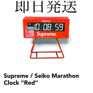 シュプリーム(Supreme)のシュプリーム Seiko Marathon Clock レッド(置時計)